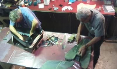 Prepreg Tail Bag production